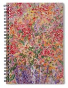 Flowers In Purple Vase. Spiral Notebook