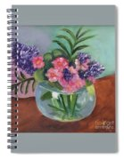 Flowers In Round Glass Vase Spiral Notebook