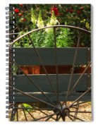 Flowers In The Cart Spiral Notebook