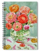 Flowers In The Glass Vase Spiral Notebook