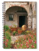 Flowers In The South Wing, Mission San Juan Capistrano, California Spiral Notebook