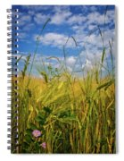 Flowers In The Wheat Spiral Notebook