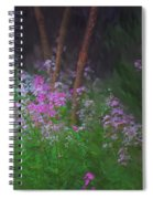 Flowers In The Woods Spiral Notebook