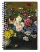 Flowers In Three Vases 1879 Spiral Notebook