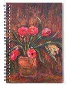 Flowers Of Pink In Vase Spiral Notebook