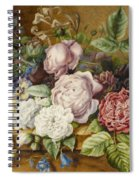 Flowers On A Ledge Spiral Notebook