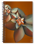 Flowers On Bronze Spiral Notebook
