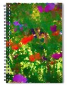 Flowers On Display As Abstract Art Spiral Notebook