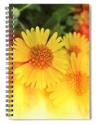 Flowers On Fire Spiral Notebook