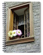 Flowers On The Sill Spiral Notebook