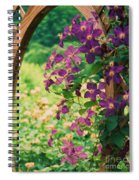 Flowers On Vine  Spiral Notebook