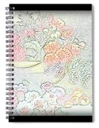 Flowers Painting  Spiral Notebook