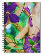 Flowers Purple Spiral Notebook