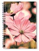 Flowers - Retro Cosmos Spiral Notebook