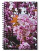 Leeds Pink Flower Spiral Notebook