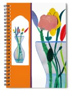 Flowers Small And Big Spiral Notebook