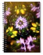Flowers Thru Kaleidiscope Spiral Notebook