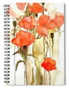 Flowers Wet Spiral Notebook