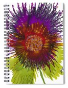 Flowerscape Thistle Spiral Notebook