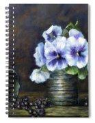 Flowers,pansies Still Life Spiral Notebook