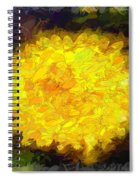 Flowery Acceptance In Abstract Spiral Notebook