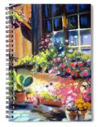 Flowery Window Of France Spiral Notebook