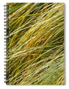 Flowing Green Grass  Abstract Spiral Notebook