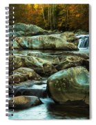 Flowing River On Greenbrier Cove Road Smoky Mountains National P Spiral Notebook