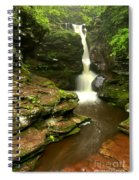 Flowing Toward The Red Rocks Spiral Notebook