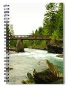 Flowing Under The Walkbridge Spiral Notebook