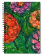 Flowing Zinnias Spiral Notebook