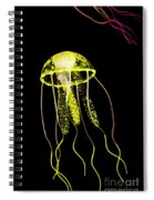 Flows Of Yellow Marine Life Spiral Notebook