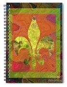 Fluer De Lis Spiral Notebook