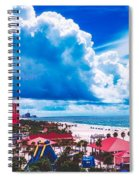 Fluffy Clouds Over Clearwater Beach Spiral Notebook