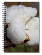 Fluffy White Alabama Cotton Spiral Notebook