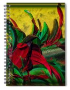 Flurry Of Feathers Spiral Notebook