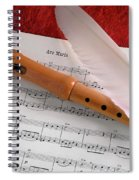 Flute And Feather Spiral Notebook