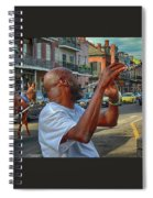Flute Musician In New Orleans Spiral Notebook
