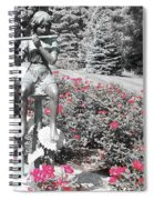Flute Player - Two Toned Spiral Notebook