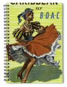 Fly B O A C To Caribbean Spiral Notebook