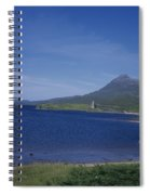 Fly Fishing  By Ardvreck Castle Loch Assynt Scotland Spiral Notebook