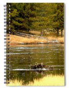 Fly Fishing On The Madison Spiral Notebook