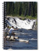 Fly Fishing The Lewis River Spiral Notebook