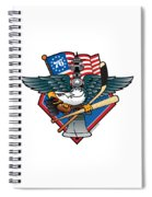 Fly. Philly, Fly, Crest Spiral Notebook