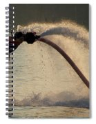 Flyboarder About To Enter Water With Hands Spiral Notebook