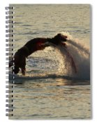 Flyboarder Diving In Up To His Arms Spiral Notebook