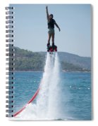 Flyboarder Giving Victory Sign With One Hand Spiral Notebook