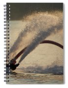 Flyboarder Only Showing Feet After Semi-circular Dive Spiral Notebook
