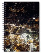 Flying At Night Over Cities Below Spiral Notebook