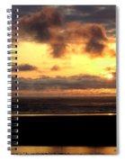 Flying Dog Sunset Spiral Notebook
